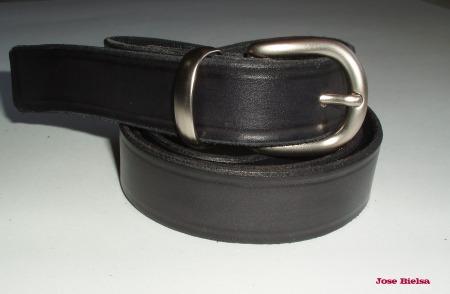 Cinturón de Cuero 2,5cm - Negro