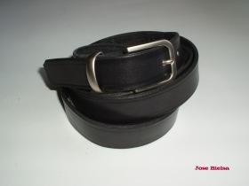 Cinturón de Cuero 2,5 cm - Negro