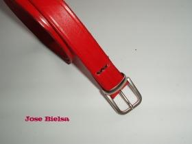 Cinturón de Cuero 2,5 cm - Rojo