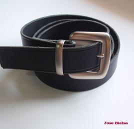 Cinturón de Cuero 4cm Negro - HEbilla Modelo 401