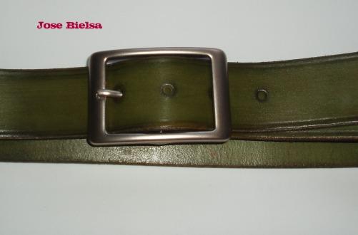 Cinturón de Cuero 4cm - Verde