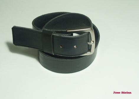 Cinturón de Cuero 4cm - Negro