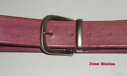 Cinturón de Cuero 4cm - Lila