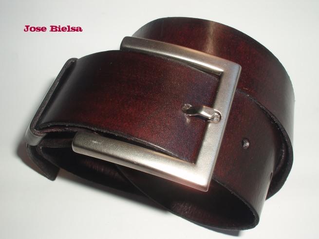 Cinturón de Cuero 4cm - Chocolate
