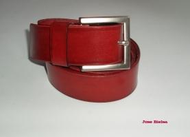 Cinturón de Cuero 4cm - Rojo