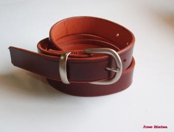 Cinturón de Cuero 3 cm Marrón - Hebilla Modelo 301