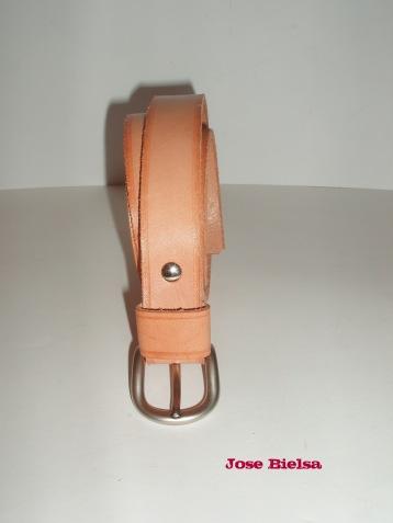 Cinturón de Cuero 3 cm Natural - Hebilla Modelo 301