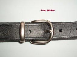 Cinturón de Cuero 3 cm Negro - Hebilla Modelo 301