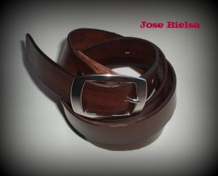 Cinturón de Cuero 3 cm Marrón - Hebilla Modelo 306