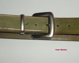 Cinturón de Cuero 4cm Verde - Hebilla Modelo 401