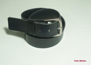 Cinturón de Cuero 4cm Negro - Hebilla Modelo 403