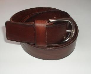 Cinturón Cuero 4cm Marrón - Hebilla Modelo 404