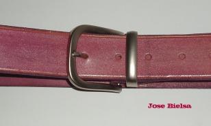 Cinturón de Cuero 4cm Fucsia - Hebilla Modelo 404