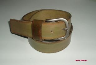 Cinturón de Cuero 4cm Verde - Hebilla Modelo 404
