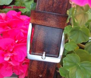 Cinturón de Cuero 4cm Marrón - Hebilla Modelo 405