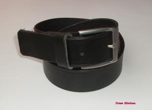 Cinturón de Cuero 4cm Negro - Hebilla Modelo 405
