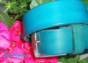 Cinturón de Cuero 4cm Azul - Hebilla Modelo 406