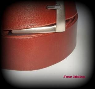 Cinturón de Cuero 4cm Marrón - Hebilla Modelo 407