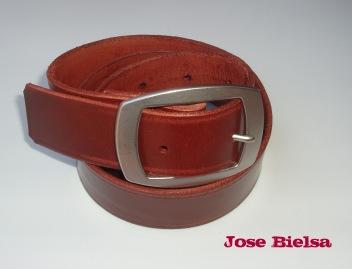 Cinturón de Cuero 4cm Marrón - Hebilla Modelo 409